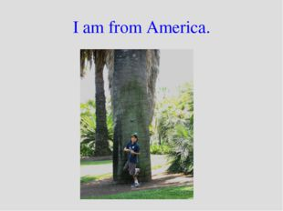 I am from America.