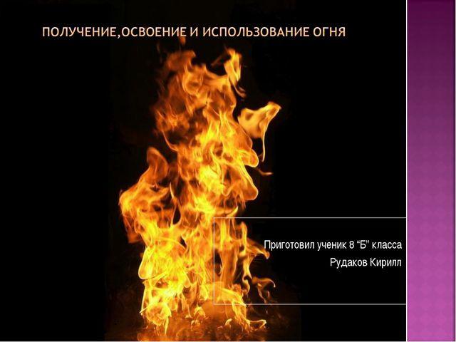 "Приготовил ученик 8 ""Б"" класса Рудаков Кирилл"
