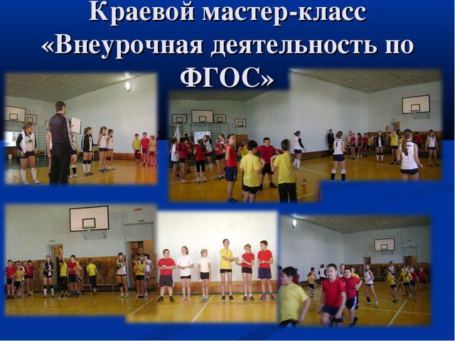 Краевой мастер-класс «Внеурочная деятельность по ФГОС»
