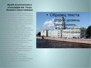 Музей антропологии и этнографии им. Петра Великого (Кунсткамера) Расположенно