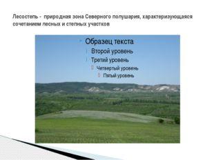 Лесостепь - природная зона Северного полушария, характеризующаяся сочетанием