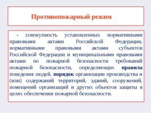 - совокупность установленных нормативными правовыми актами Российской Федера