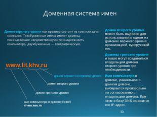 * Домен второго уровня может быть выделен для использования в одном из домена