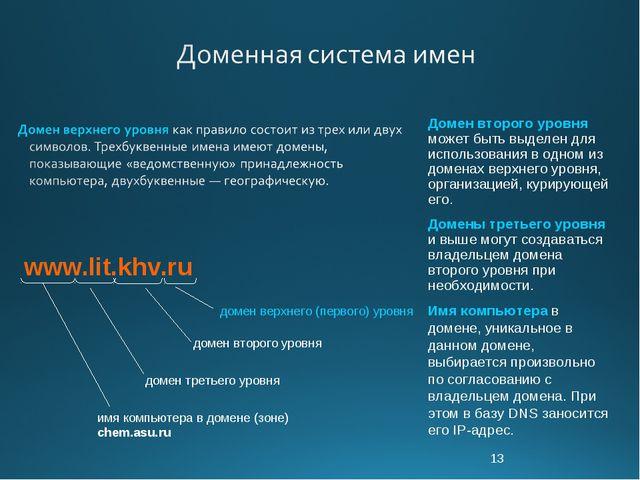 * Домен второго уровня может быть выделен для использования в одном из домена...