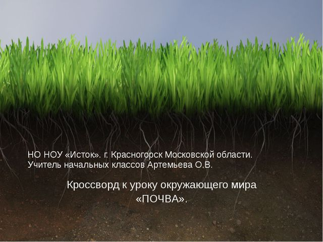 НО НОУ «Исток». г. Красногорск Московской области. Учитель начальных классов...