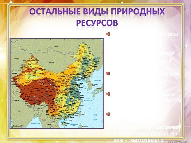 Климатические ресурсы восточной части благоприятны для земледелия. На западе...