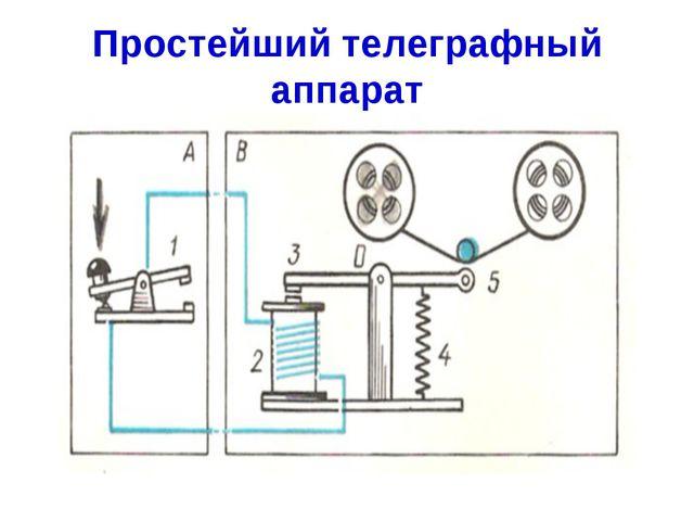 Простейший телеграфный аппарат