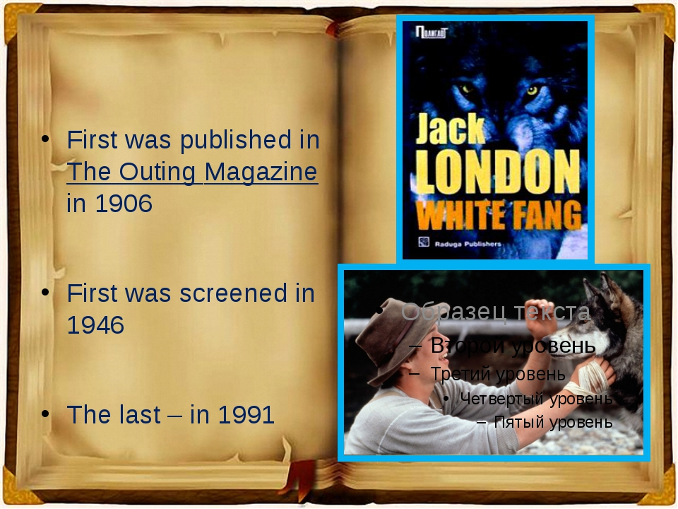 First was published in The Outing Magazine  in 1906 First was screened in 19...