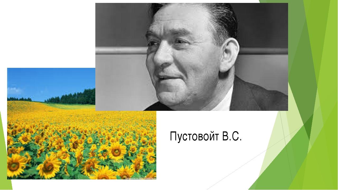 Пустовойт В.С.