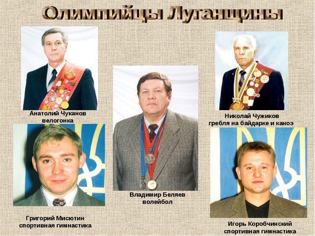 Николай Чужиков гребля на байдарке и каноэ Владимир Беляев волейбол Анатолий...