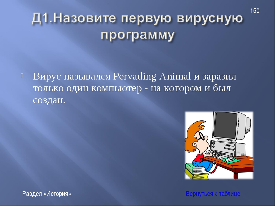 Вирус назывался Pervading Animal и заразил только один компьютер - на котором...