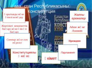 Қазақстан Республикасының Конститутция Үкімет Адам және Азамат Жалпы ережелер