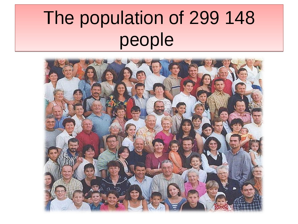 The population of 299 148 people