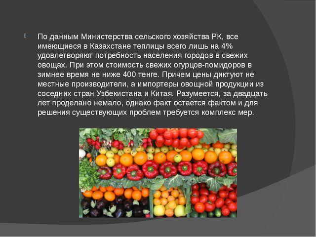 По данным Министерства сельского хозяйства РК, все имеющиеся в Казахстане теп...