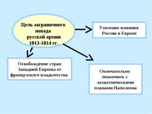 Цель заграничного похода русской армии 1813-1814 гг. Освобождение стран Запа