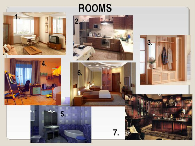 1. 5. ROOMS 2. 3. 4. 6. 7.