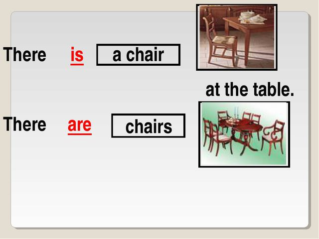 There are is a chair chairs at the table. There