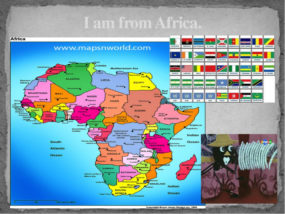 I am from Africa.