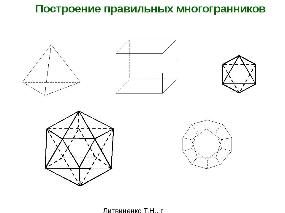 Литвиненко Т.Н., г Благовещенск 2011 Построение правильных многогранников