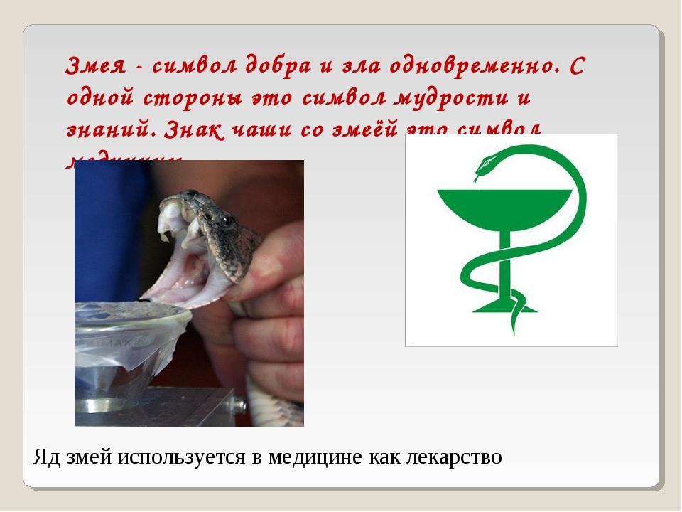 Змея - символ добра и зла одновременно. С одной стороны это символ мудрости и...