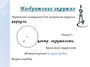 Изображение окружности. Чертежный инструмент для построения окружности – цир