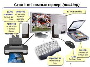Стол үсті компьютерлері (desktop) жүйелік блок дыбыс колонкалары дыбыс шығар