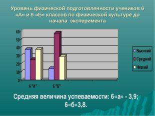 Уровень физической подготовленности учеников 6 «А» и 6 «Б» классов по физичес