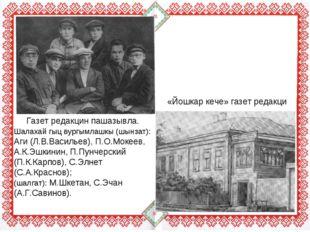 Газет редакцин пашазывла. Шалахай гыц вургымлашкы (шынзат): Аги (Л.В.Васильев