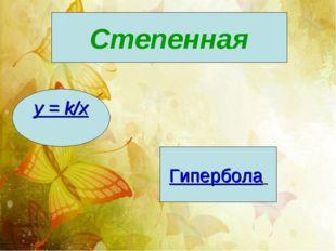 Степенная y = k/x Гипербола