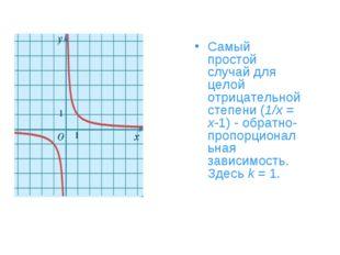 Самый простой случай для целой отрицательной степени (1/x = x-1) - обратно-пр