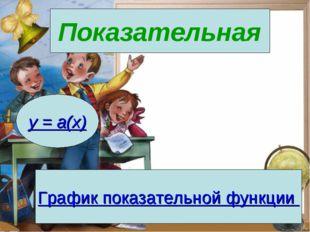 Показательная y = a(x) График показательной функции