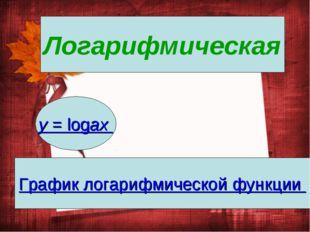 Логарифмическая y= logax График логарифмической функции