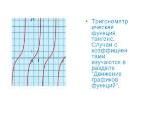 Тригонометрическая функция тангенс. Случаи с коэффициентами изучаются в разде