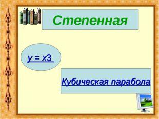 Степенная y = x3 Кубическая парабола