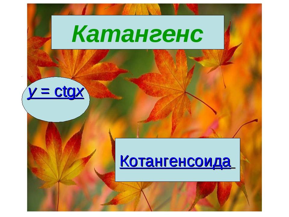 Катангенс y= сtgx Котангенсоида