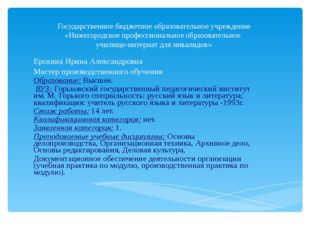 Государственное бюджетное образовательное учреждение «Нижегородское профессио