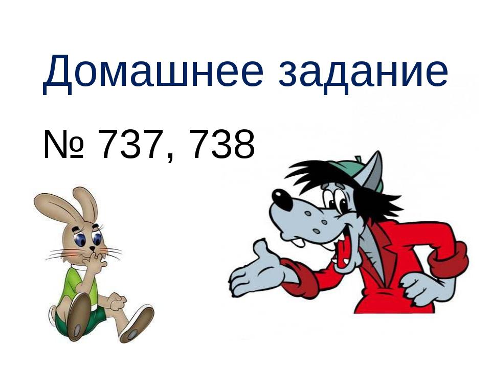 Домашнее задание № 737, 738