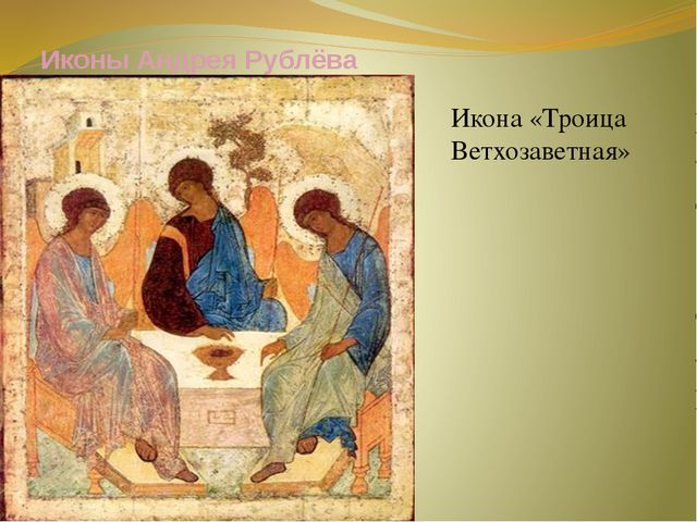Иконы Андрея Рублёва Икона «Троица Ветхозаветная»