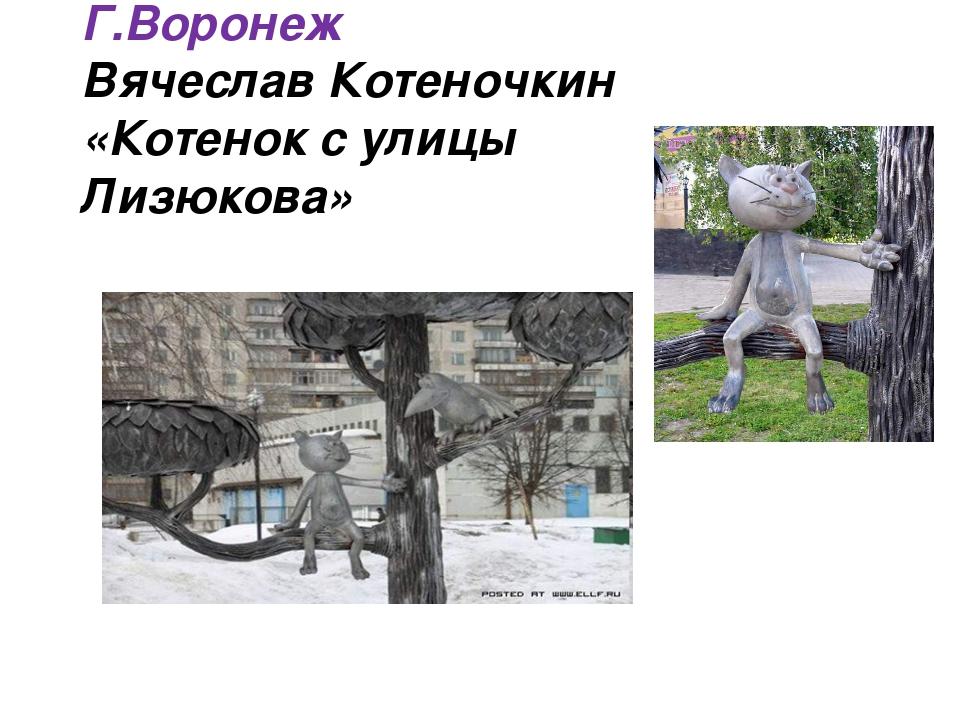 Г.Воронеж Вячеслав Котеночкин «Котенок с улицы Лизюкова»