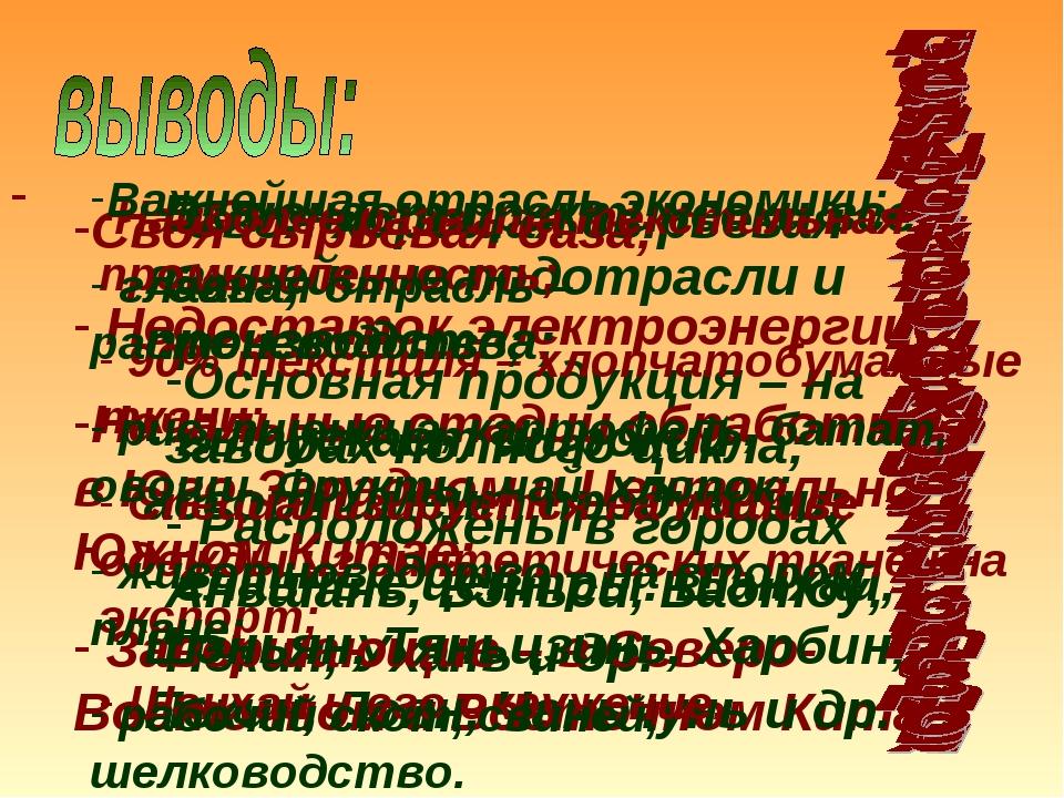 -Своя хорошая сырьевая база; Основная продукция – на заводах полного цикла; Р...