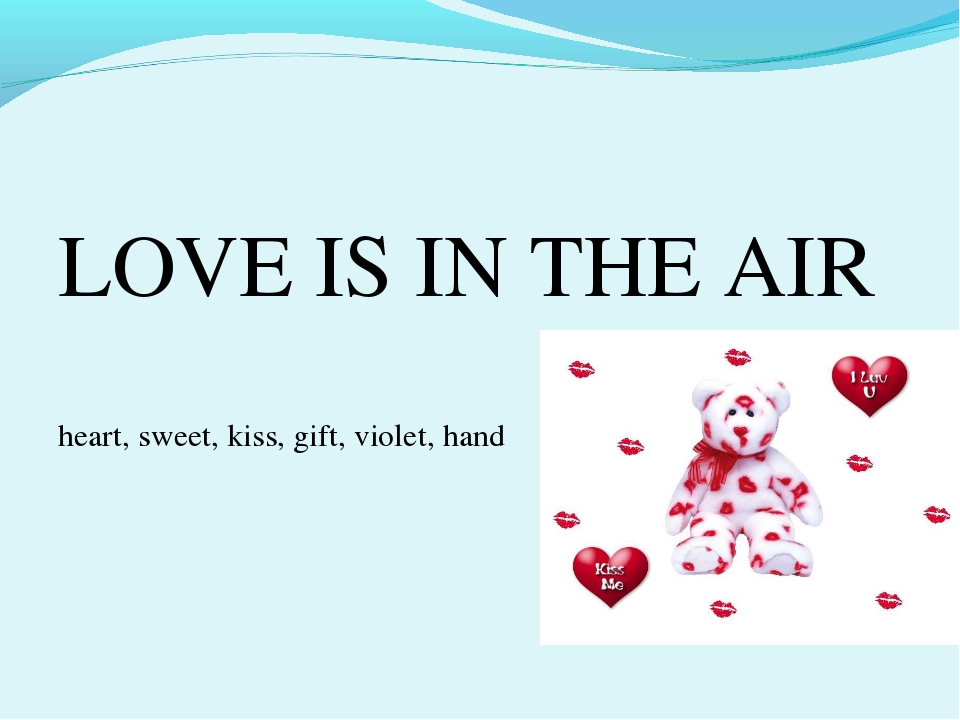 LOVE IS IN THE AIR heart, sweet, kiss, gift, violet, hand