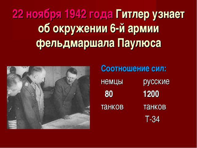 22 ноября 1942 года Гитлер узнает об окружении 6-й армии фельдмаршала Паулюса...