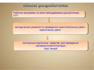 методические указания по проведению самостоятельных работ, практических рабо