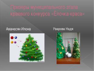 Призеры муниципального этапа краевого конкурса «Ёлочка-краса» Аванесян Илона