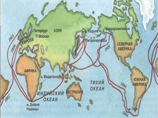 Старт первой русской кругосветной экспедиции Кронштадт
