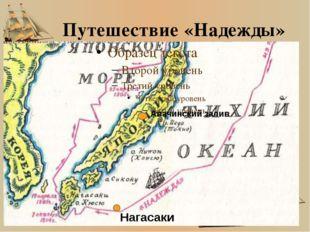 Путешествие «Надежды» Авачинский залив Нагасаки