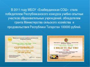 В 2011 году МБОУ «Енабердинская СОШ» стала победителем Республиканского конку