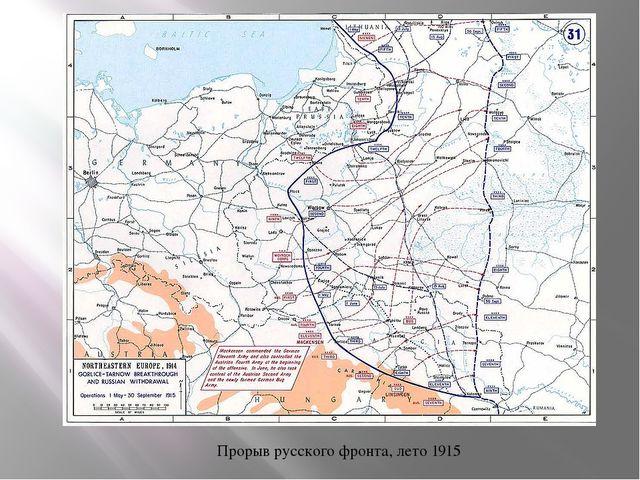 Прорыв русского фронта, лето 1915