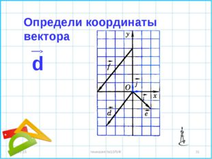 * * гимназия №10ЛИК Определи координаты вектора d гимназия №10ЛИК