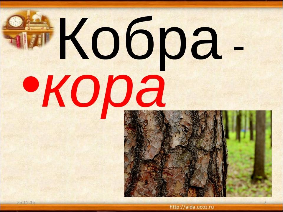 Кобра - кора * *